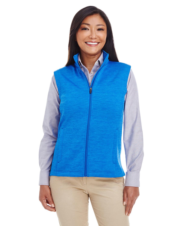 Devon & Jones Ladies' Newbury MélangeFleece Vest FRENCH BLUE HTHR