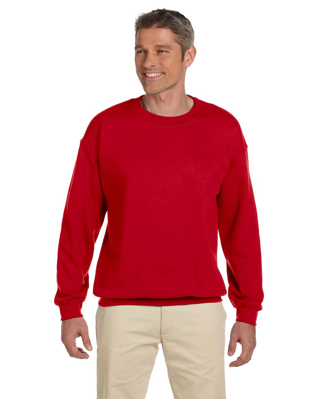 Gildan Adult Heavy Blend™ 50/50 Fleece Crew CHERRY RED