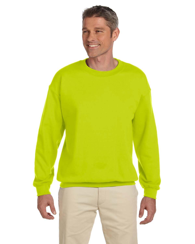 Gildan Adult Heavy Blend™ 50/50 Fleece Crew SAFETY GREEN