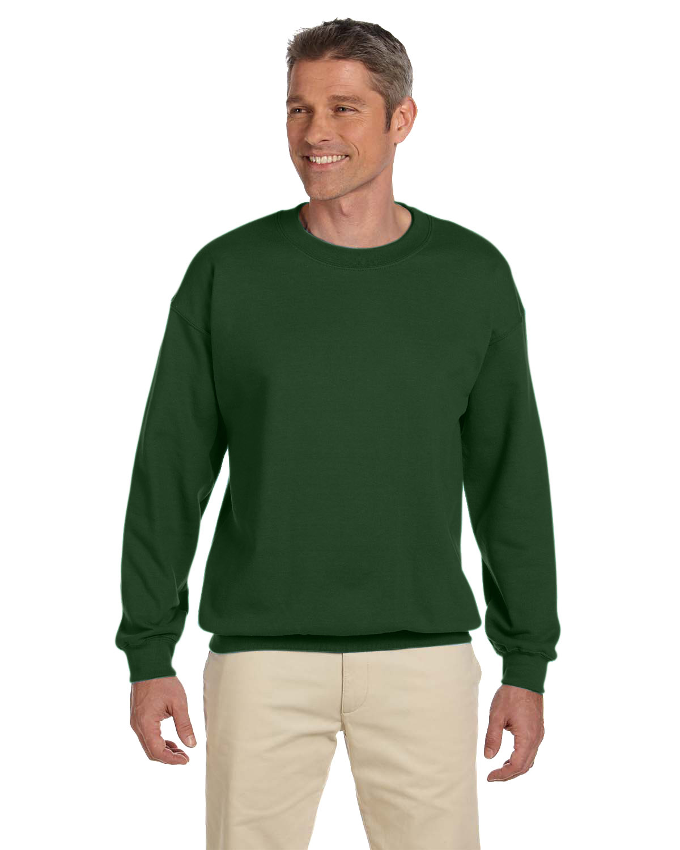 Gildan Adult Heavy Blend™ 50/50 Fleece Crew FOREST GREEN