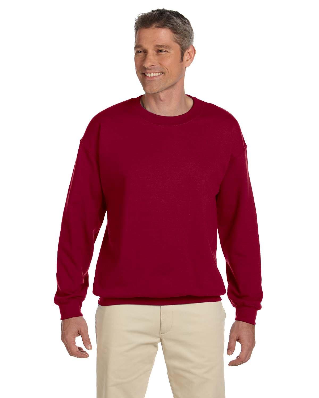 Gildan Adult Heavy Blend™ 50/50 Fleece Crew CARDINAL RED