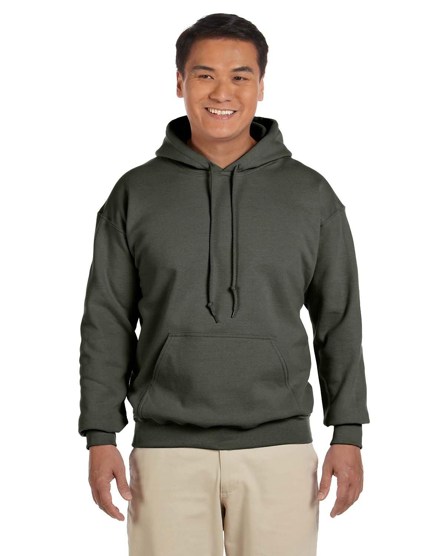 Gildan Adult Heavy Blend™ 50/50 Hooded Sweatshirt MILITARY GREEN
