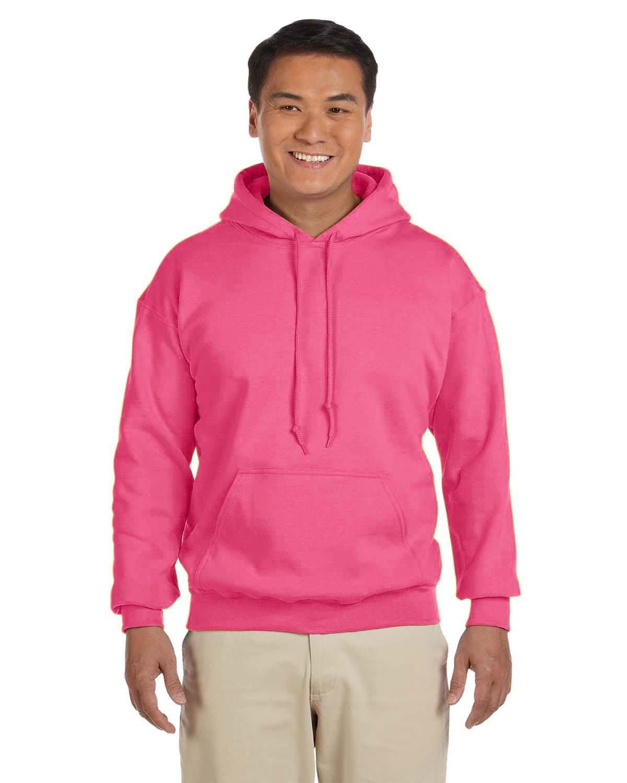 Gildan Adult Heavy Blend™ 50/50 Hooded Sweatshirt SAFETY PINK