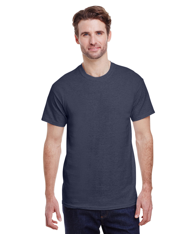 Gildan Adult Ultra Cotton® T-Shirt HEATHER NAVY