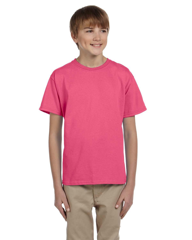 Gildan Youth Ultra Cotton® T-Shirt SAFETY PINK