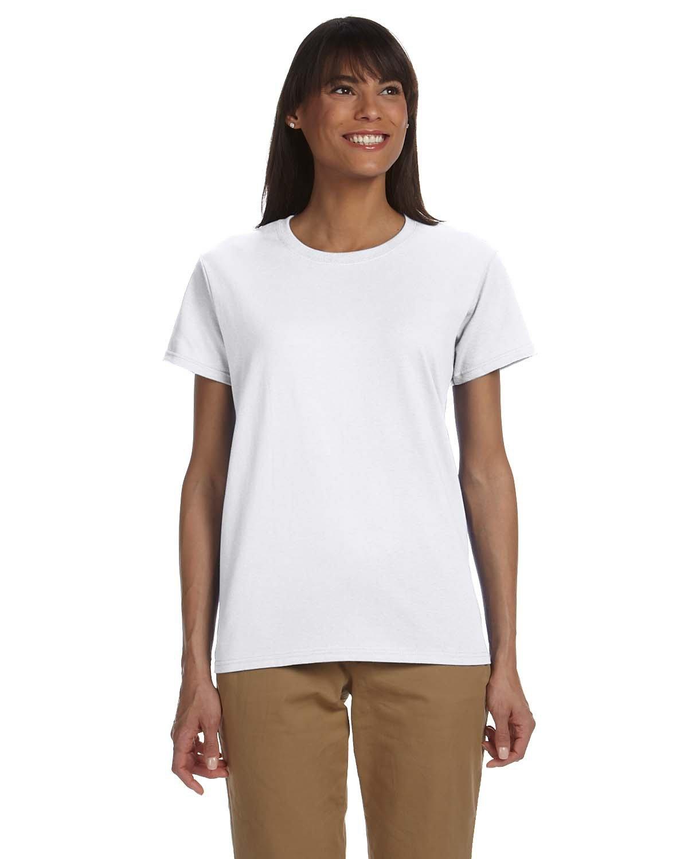 Gildan Ladies' Ultra Cotton® T-Shirt WHITE