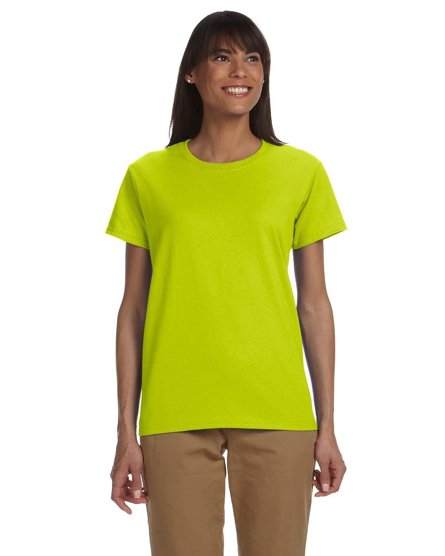 Gildan Ladies' Ultra Cotton® T-Shirt SAFETY GREEN