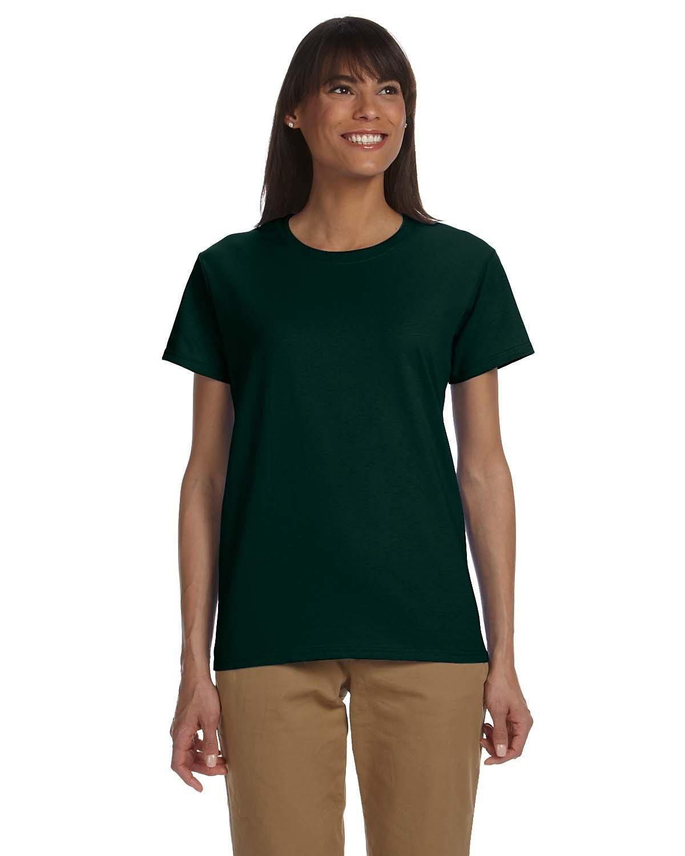 Gildan Ladies' Ultra Cotton® T-Shirt FOREST GREEN