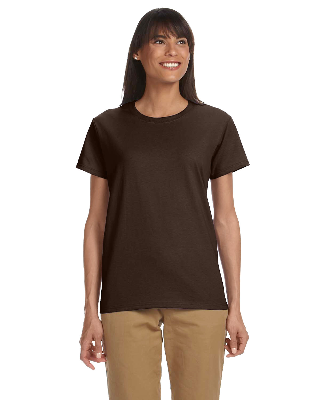 Gildan Ladies' Ultra Cotton® T-Shirt DARK CHOCOLATE