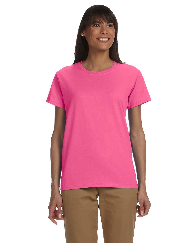 Gildan Ladies' Ultra Cotton® T-Shirt SAFETY PINK