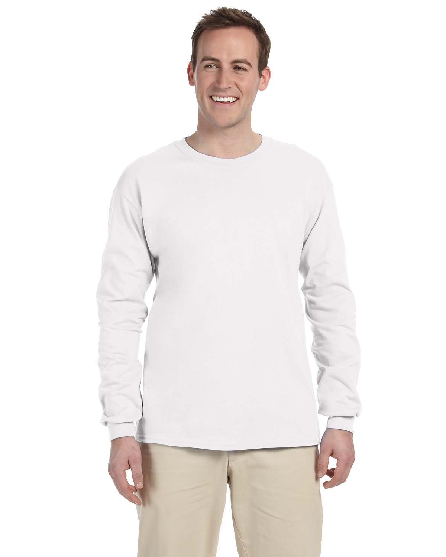 Gildan Adult Ultra Cotton® Long-Sleeve T-Shirt WHITE