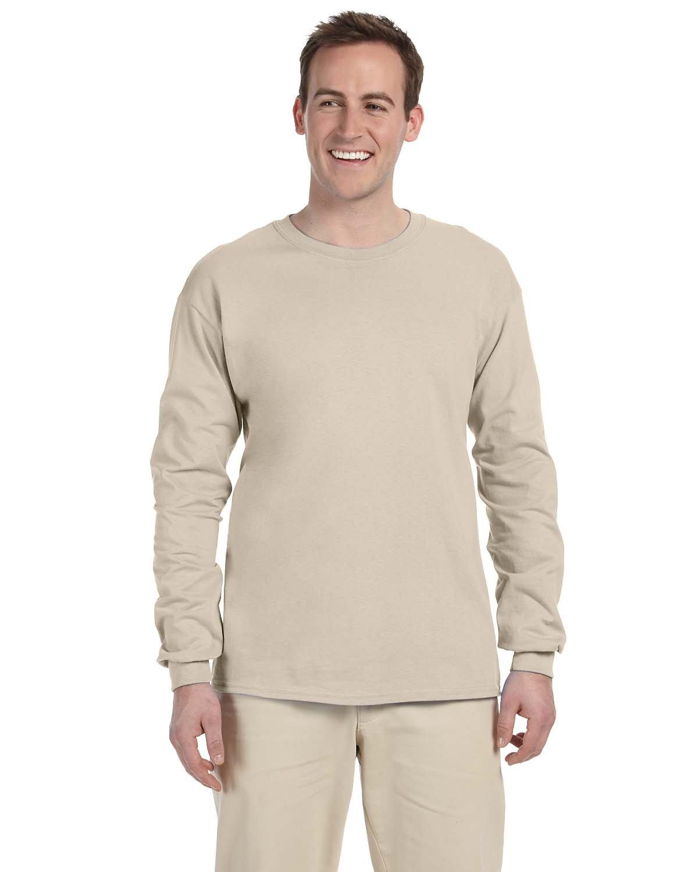Gildan Adult Ultra Cotton® Long-Sleeve T-Shirt SAND