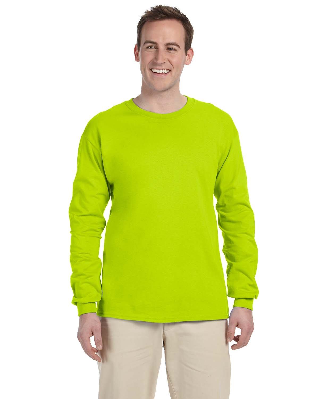 Gildan Adult Ultra Cotton® Long-Sleeve T-Shirt SAFETY GREEN