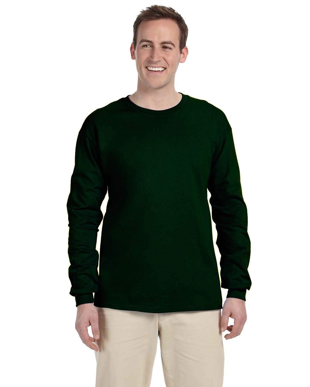Gildan Adult Ultra Cotton® Long-Sleeve T-Shirt FOREST GREEN