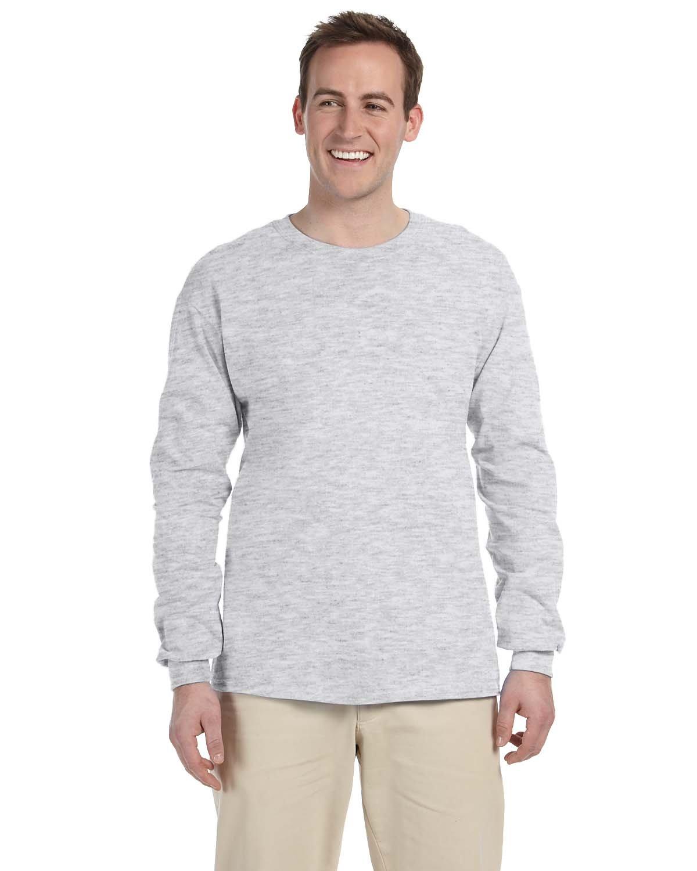 Gildan Adult Ultra Cotton® Long-Sleeve T-Shirt ASH GREY
