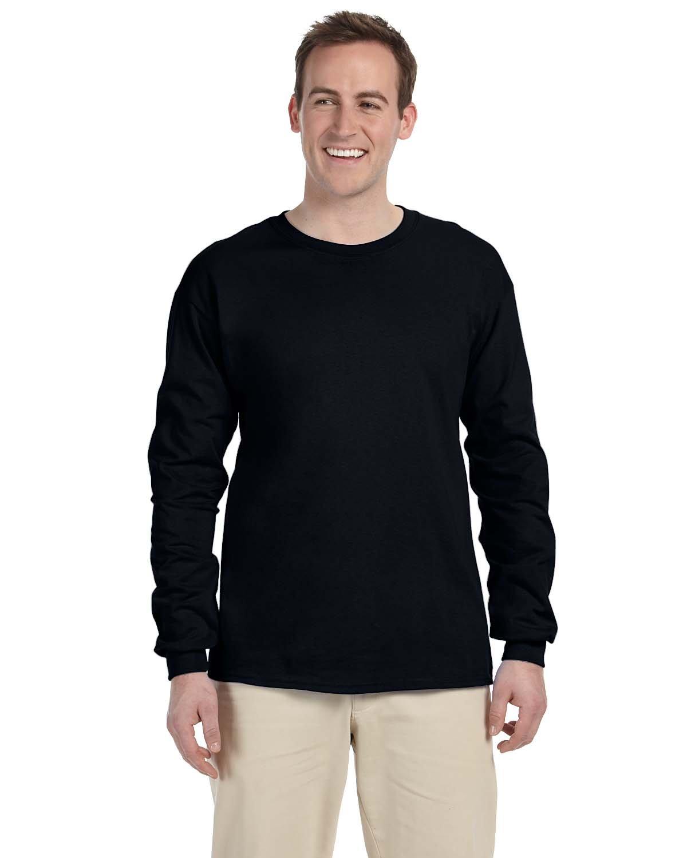 Gildan Adult Ultra Cotton® Long-Sleeve T-Shirt BLACK