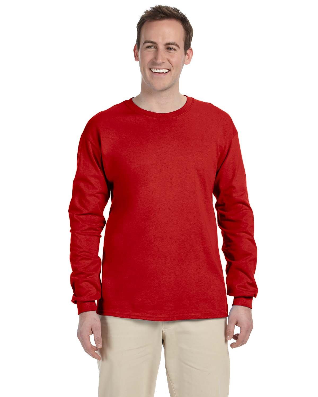 Gildan Adult Ultra Cotton® Long-Sleeve T-Shirt RED