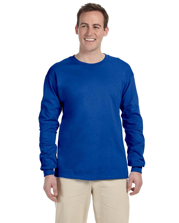 Gildan Adult Ultra Cotton® Long-Sleeve T-Shirt ROYAL