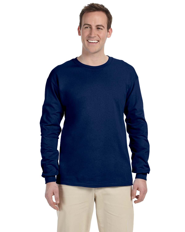 Gildan Adult Ultra Cotton® Long-Sleeve T-Shirt NAVY