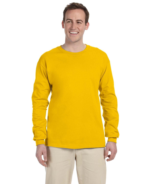 Gildan Adult Ultra Cotton® Long-Sleeve T-Shirt GOLD