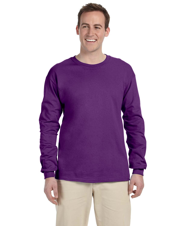 Gildan Adult Ultra Cotton® Long-Sleeve T-Shirt PURPLE