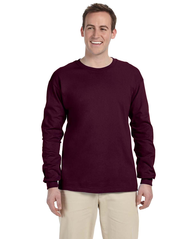 Gildan Adult Ultra Cotton® Long-Sleeve T-Shirt MAROON