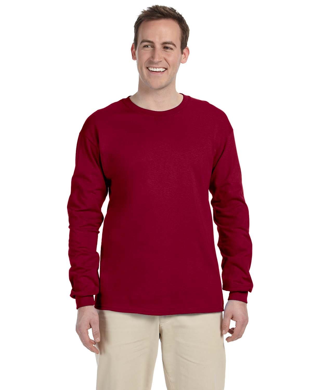 Gildan Adult Ultra Cotton® Long-Sleeve T-Shirt CARDINAL RED