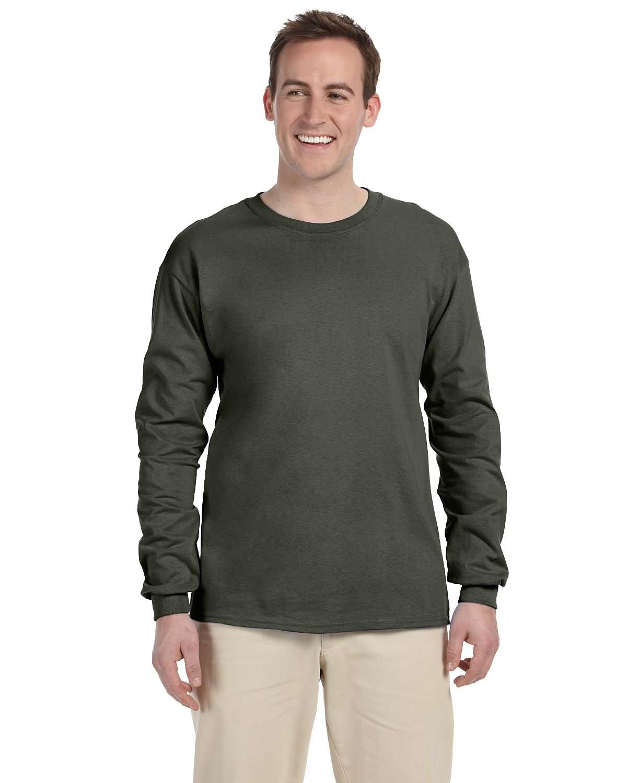 Gildan Adult Ultra Cotton® Long-Sleeve T-Shirt MILITARY GREEN