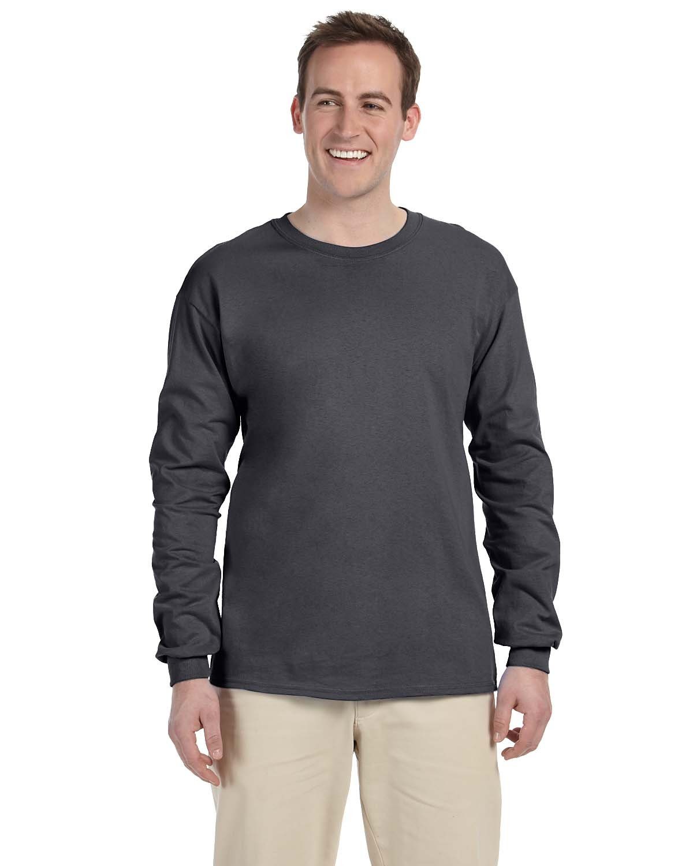 Gildan Adult Ultra Cotton® Long-Sleeve T-Shirt DARK HEATHER