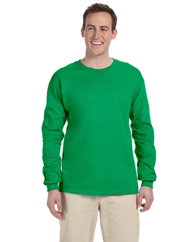 Gildan Adult Ultra Cotton® Long-Sleeve T-Shirt IRISH GREEN