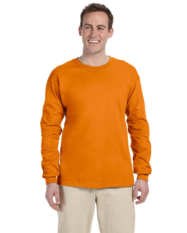Gildan Adult Ultra Cotton® Long-Sleeve T-Shirt S ORANGE