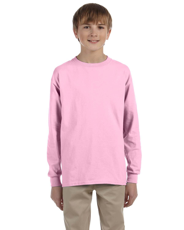 Gildan Youth Ultra Cotton®  Long-Sleeve T-Shirt LIGHT PINK