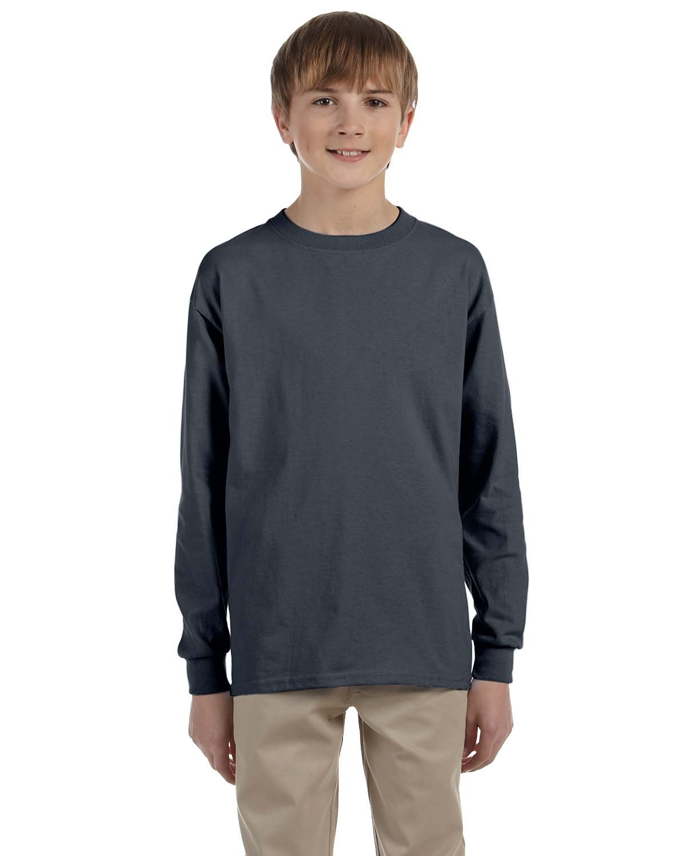 Gildan Youth Ultra Cotton®  Long-Sleeve T-Shirt CHARCOAL