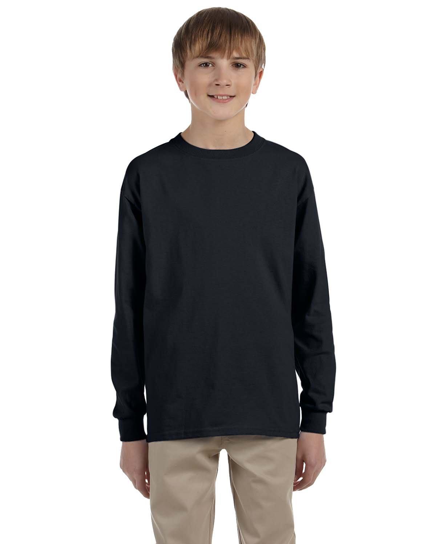Gildan Youth Ultra Cotton®  Long-Sleeve T-Shirt BLACK