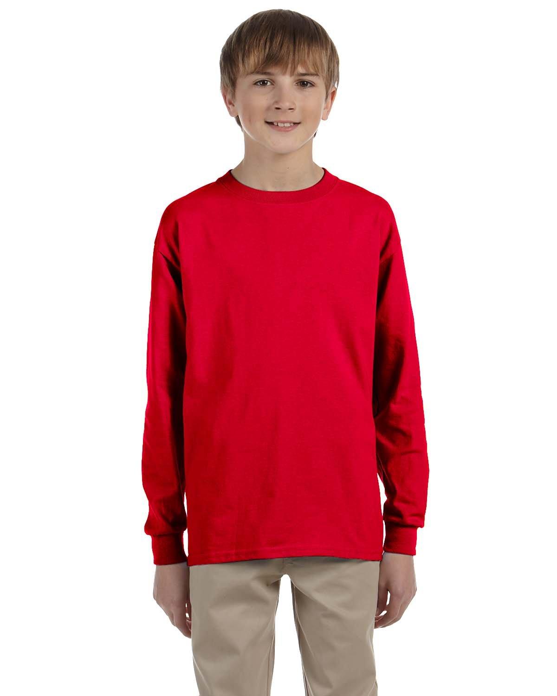 Gildan Youth Ultra Cotton®  Long-Sleeve T-Shirt RED