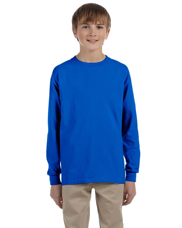Gildan Youth Ultra Cotton®  Long-Sleeve T-Shirt ROYAL