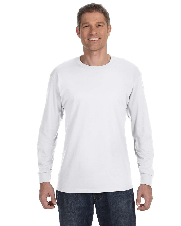 Gildan Adult Heavy Cotton™ Long-Sleeve T-Shirt WHITE