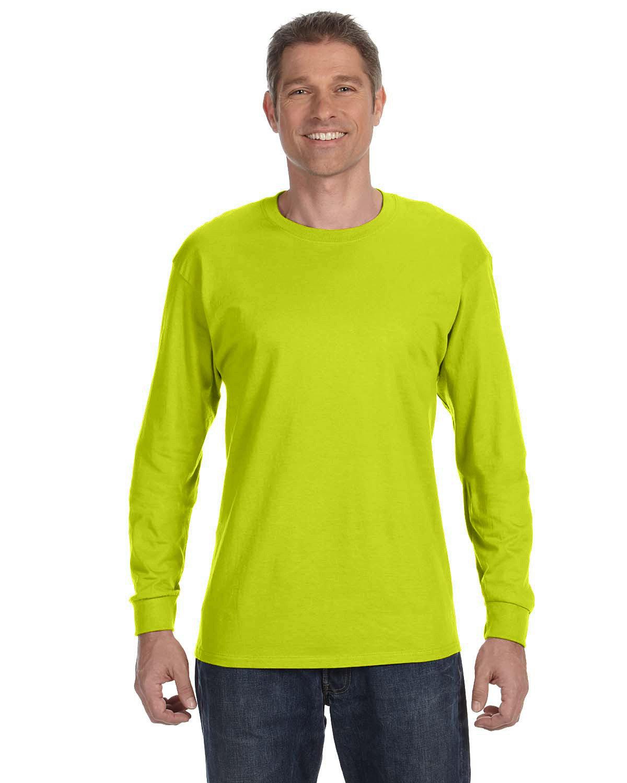 Gildan Adult Heavy Cotton™ Long-Sleeve T-Shirt SAFETY GREEN