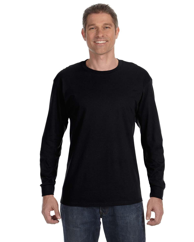 Gildan Adult Heavy Cotton™ Long-Sleeve T-Shirt BLACK
