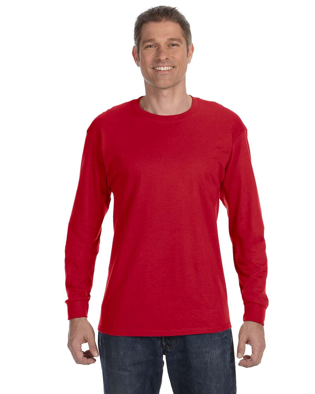 Gildan Adult Heavy Cotton™ Long-Sleeve T-Shirt RED