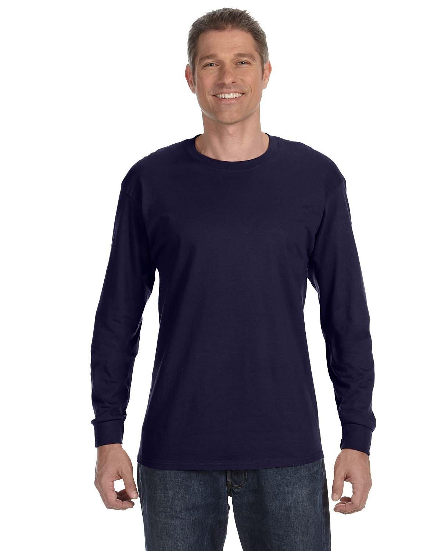Gildan Adult Heavy Cotton™ Long-Sleeve T-Shirt NAVY