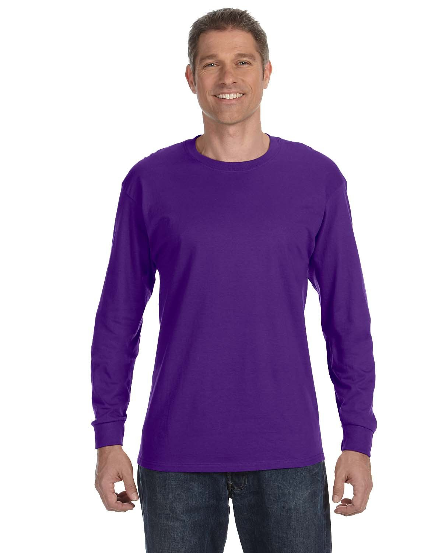 Gildan Adult Heavy Cotton™ Long-Sleeve T-Shirt PURPLE