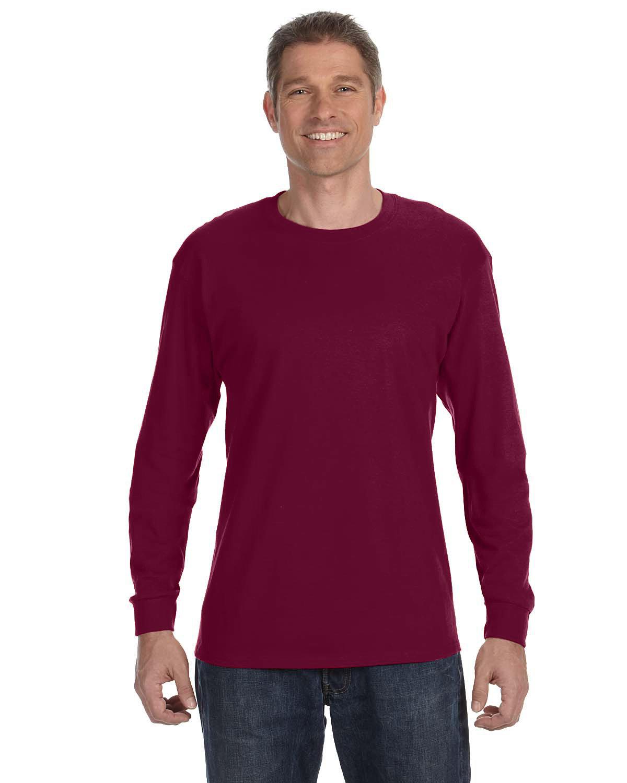 Gildan Adult Heavy Cotton™ Long-Sleeve T-Shirt MAROON