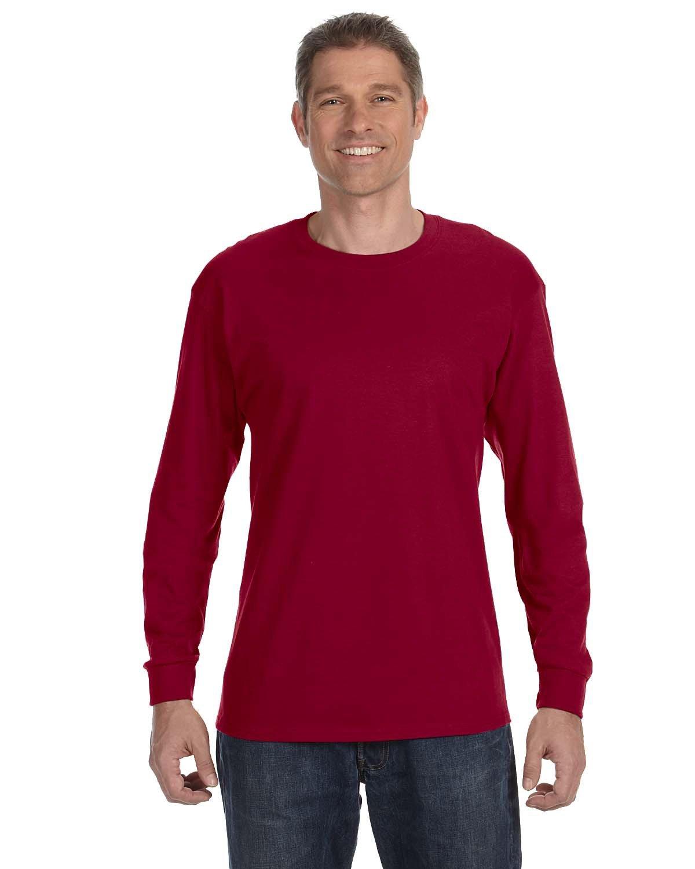 Gildan Adult Heavy Cotton™ Long-Sleeve T-Shirt CARDINAL RED