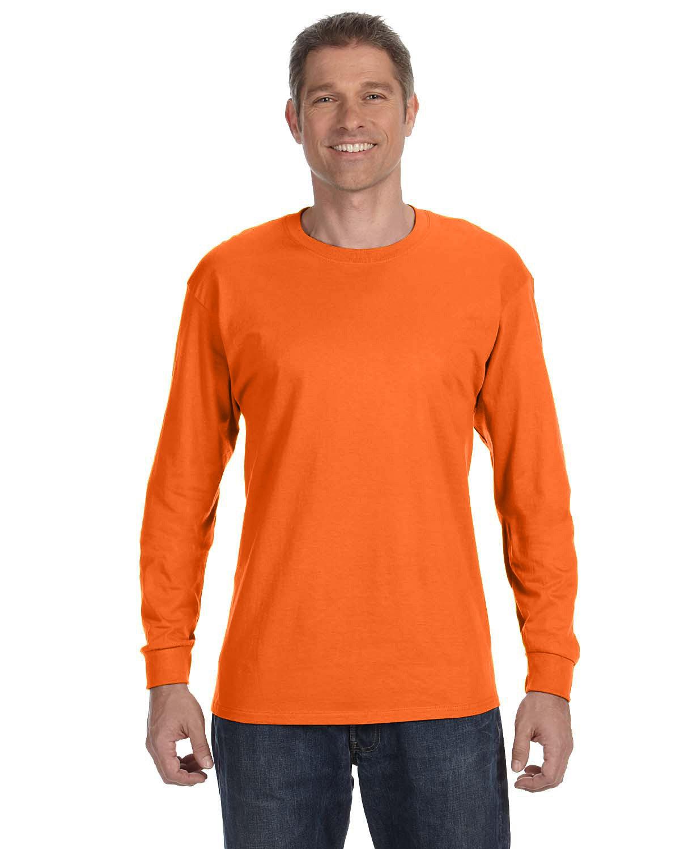 Gildan Adult Heavy Cotton™ Long-Sleeve T-Shirt S ORANGE