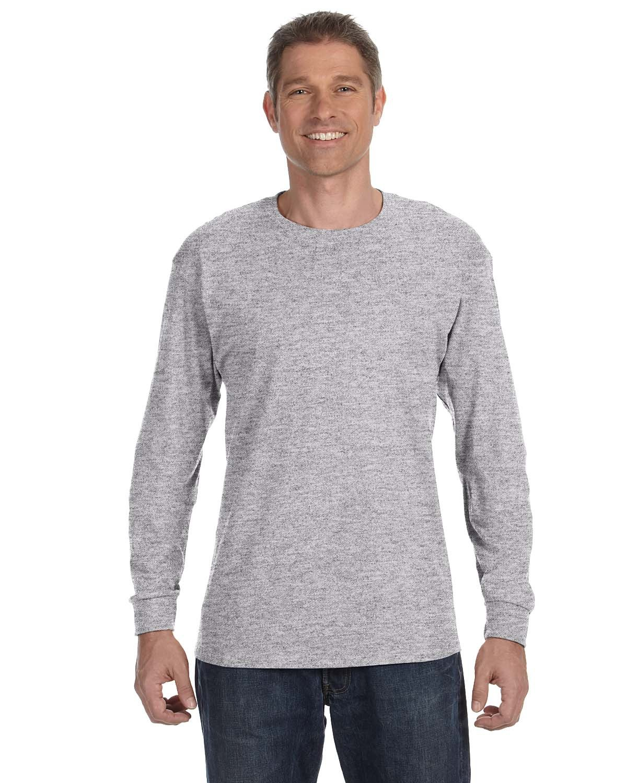 Gildan Adult Heavy Cotton™ Long-Sleeve T-Shirt SPORT GREY