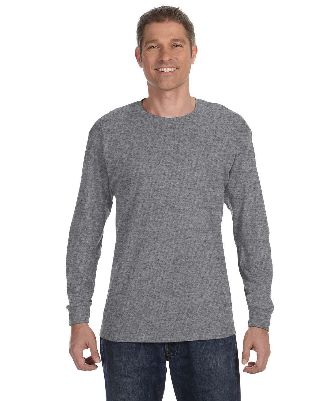 Gildan Adult Heavy Cotton™ Long-Sleeve T-Shirt GRAPHITE HEATHER