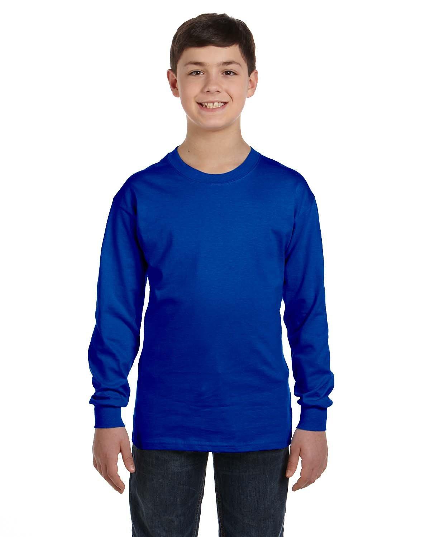 Gildan Youth Heavy Cotton™ Long-Sleeve T-Shirt ROYAL