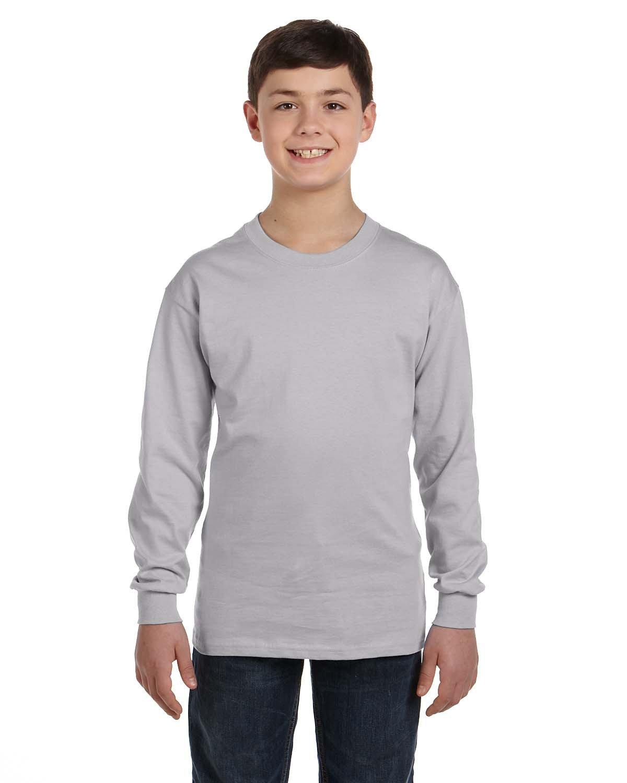 Gildan Youth Heavy Cotton™ Long-Sleeve T-Shirt SPORT GREY