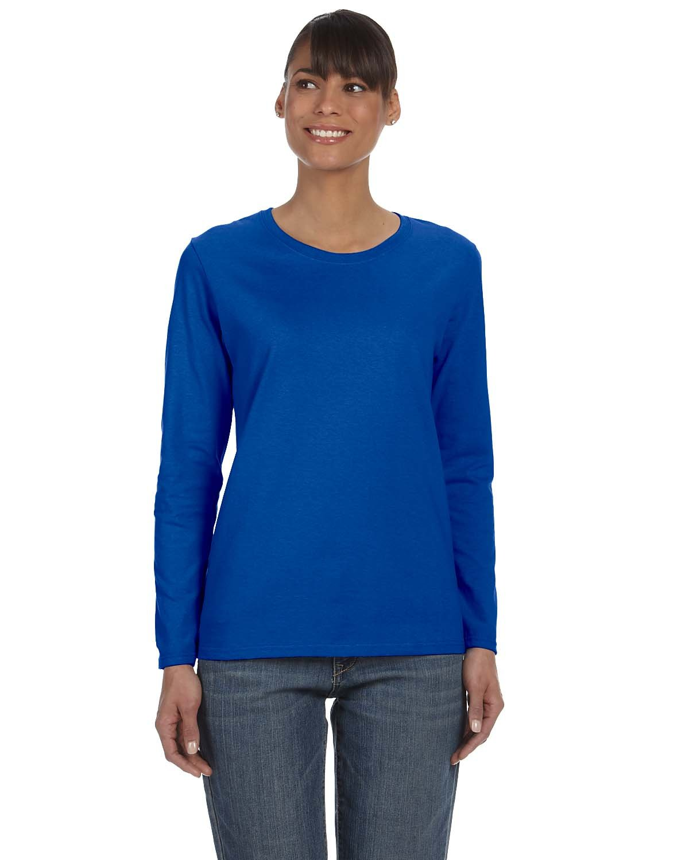 Gildan Ladies' Heavy Cotton™ Long-Sleeve T-Shirt ROYAL